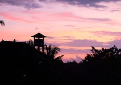 Sunset Bali Ubud - Crédit photo Clio Pajczer