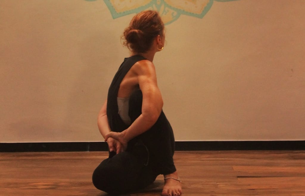 Light on Marichyasana D